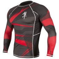 Metaru 47™ Rashguard Hayabusa® Long Sleeve Red
