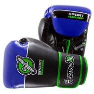 Bokshandschoenen Hayabusa Sport 12 OZ Training Gloves Black Blue