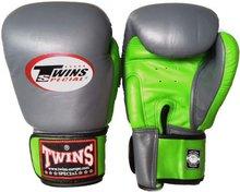 Kickboks Bokshandschoenen Twins BGVL 3 Grey Green Leder